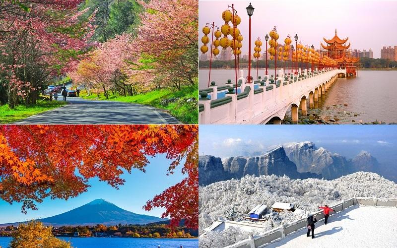 Thời điểm lý tưởng để đến Đài Loan