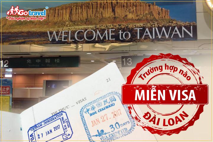 Trường hợp được miễn visa Đài Loan